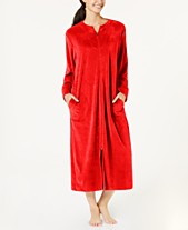 Miss Elaine Velvet Fleece Long Zip Robe 82fc1b50b