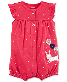 Carter's Baby Girls Cotton Bunny Romper