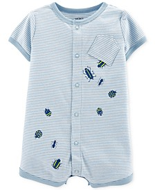 Carter's Baby Boys Striped Bugs Cotton Romper