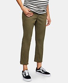 Maternity Side Panel Cropped Pants