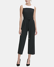 Tommy Hilfiger Colorblocked Cropped Jumpsuit