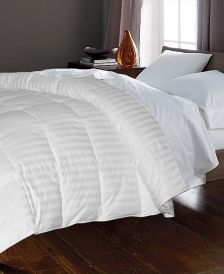 350 Thread Count Cotton Damask White Goose Down & Feather Full/Queen Comforter