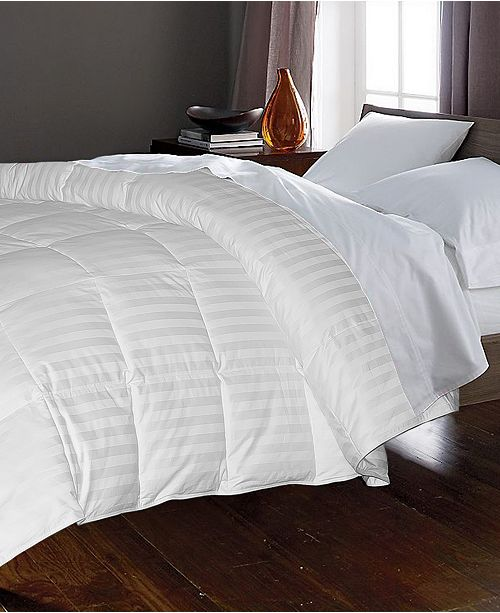 Blue Ridge 350 Thread Count Cotton Damask White Goose Down & Feather Comforter Collection