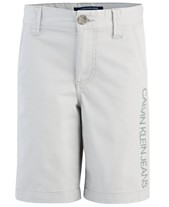 8b453c7d87 Calvin Klein Big Boys Stretch Twill Shorts