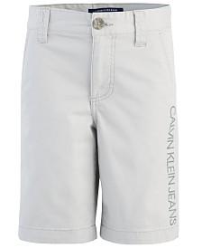 Calvin Klein Big Boys Stretch Twill Shorts