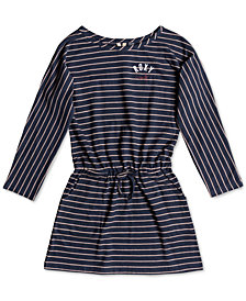 Roxy Big Girls Long-Sleeve Striped Cotton Dress