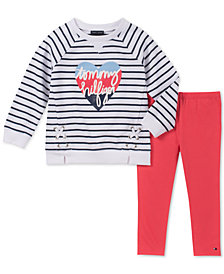 Tommy Hilfiger Little Girls 2-Pc. Lace-Up Logo Tunic & Leggings Set