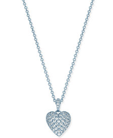 "Danori Crystal Pavé Heart Pendant Necklace, 16"" + 2"" extender, Created for Macy's"