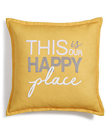"Lacourte Happy Place 20"" x 20"" Decorative Pillow"