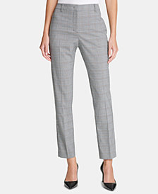 DKNY Plaid Skinny Pants, Created for Macy's