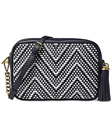 MICHAEL Michael Kors Woven Chevron Leather Camera Bag