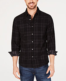 Michael Kors Men's Corduroy Plaid Shirt