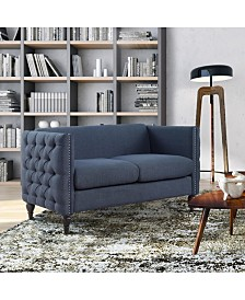 Bently Contemporary Tufted Loveseat