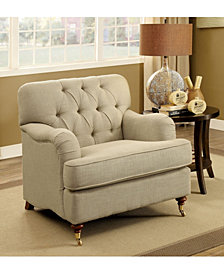 Tolk Transitional Tufted Fabric Chair