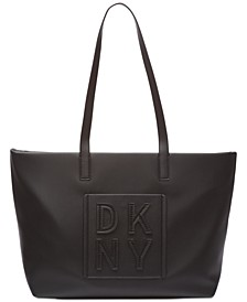 Tilly Stacked Logo Top Zip Tote, Created for Macy's