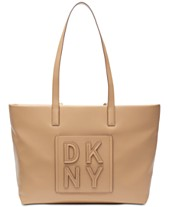 346ca17b4a319 DKNY Tilly Stacked Logo Top Zip Tote