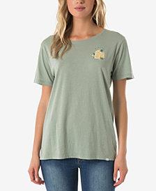 O'Neill Juniors' Cotton Sunflower Graphic-Print T-Shirt