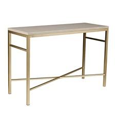 Lattimore Faux Stone Console Table