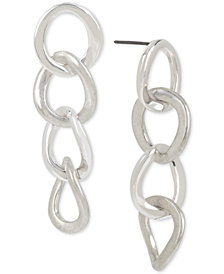 Robert Lee Morris Soho Silver-Tone Link Linear Drop Earrings