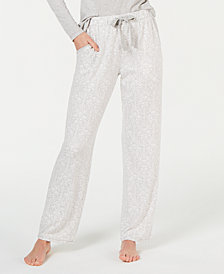 Charter Club Printed Soft Knit Pajama Pants, Created for Macy's