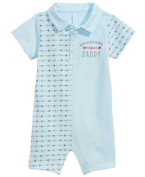 1f9c0b9b75e4 First Impressions Baby Boys Collared Arrow-Print Cotton Romper ...