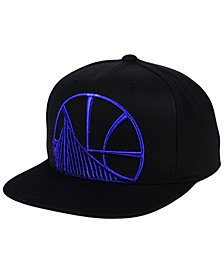 Mitchell & Ness Golden State Warriors Metallic Cropped Snapback Cap