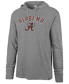 '47 Brand Men's Alabama Crimson Tide Long Sleeve Focus Hooded T-Shirt