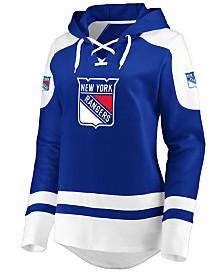 Majestic Women's New York Rangers Centre Lace up Crew Sweatshirt