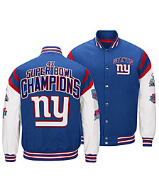 Authentic NFL Apparel Men's New York Giants Home Team Varsity Jacket