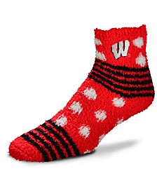 For Bare Feet Wisconsin Badgers Homegater Sleep Soft Socks