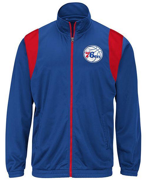 G-III Sports Men's Philadelphia 76ers Clutch Time Track Jacket