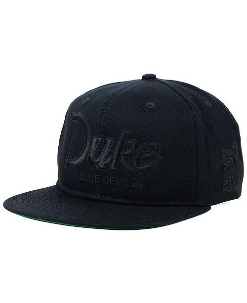 31f484d4da9a2 ... Nike Duke Blue Devils Sport Specialties Black on Black Snapback Cap ...
