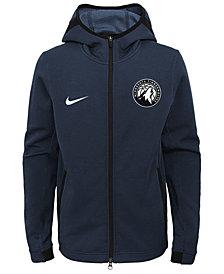Nike Minnesota Timberwolves Showtime Hooded Jacket, Big Boys (8-20)