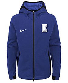 Nike Los Angeles Clippers Showtime Hooded Jacket, Big Boys (8-20)
