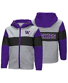 Colosseum Washington Huskies Colorblocked Full-Zip Sweatshirt, Toddler Boys (2T-4T)