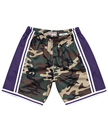 Mitchell & Ness Men's Los Angeles Lakers Woodland Camo Swingman Shorts