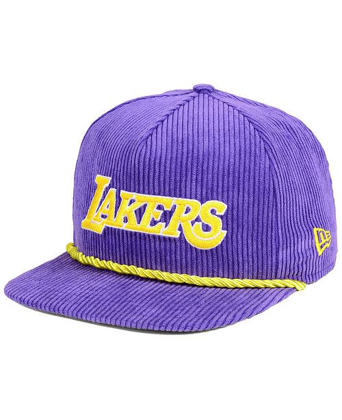 huge selection of 74442 70824 New Era Los Angeles Lakers Hardwood Classic Nights Cords 9FIFTY Snapback  Cap ...