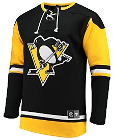 Majestic Men's Pittsburgh Penguins Breakaway Lace Up Crew Sweatshirt