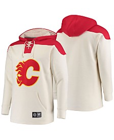 Majestic Men's Calgary Flames Breakaway Lace Up Hoodie