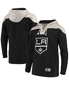 Majestic Men's Los Angeles Kings Breakaway Lace Up Hoodie