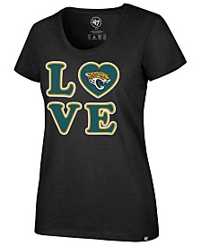 '47 Brand Women's Jacksonville Jaguars Love Scoop Neck T-Shirt