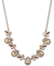 "Givenchy Crystal Cluster Collar Necklace, 16"" + 3"" extender"