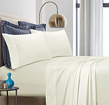 Tribeca Living 500 Thread Count Cotton Percale Extra Deep Pocket Queen Sheet Set