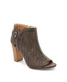 XOXO Birkita Perforated Peep Toe Shooties