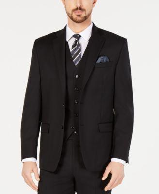 Men's Classic-Fit UltraFlex Stretch Black Suit Jacket