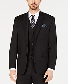Men's Classic-Fit UltraFlex Stretch Black Solid Suit Jacket