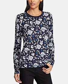 Lauren Ralph Lauren Petite Floral-Print Sweater