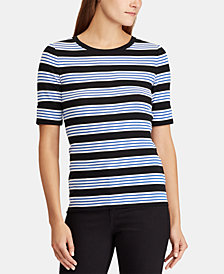 Lauren Ralph Lauren Petite Striped Cotton Top