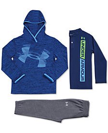 Under Armour Little Boys Twist Hoodie, Logo-Print T-Shirt & Jogger Pants