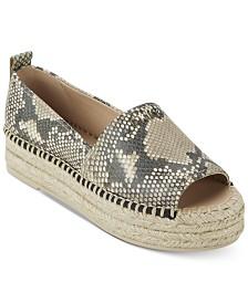 DKNY Mer Peep-Toe Espadrille Sandals,Created for Macy's